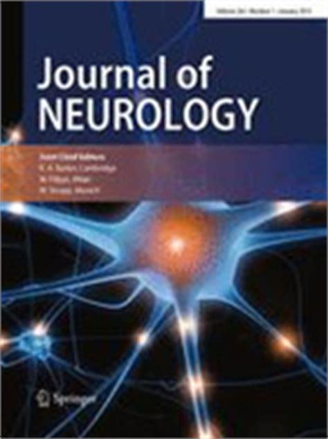 best neurology journals supplement in journal of neurology