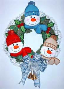 moldes para corona de navidad manualidades patrones y moldes de coronas y pinguinos en fieltro gratis