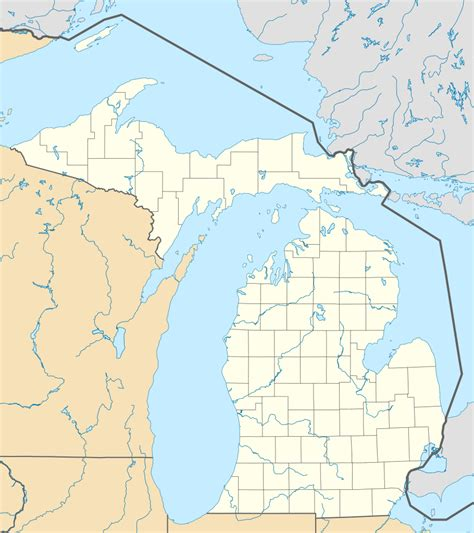 map michigan usa file usa michigan location map svg wikimedia commons