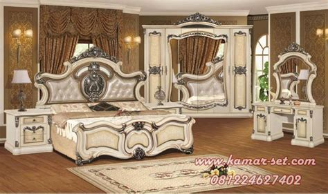 gambar set tempat tidur utama mewah ranjang kamar