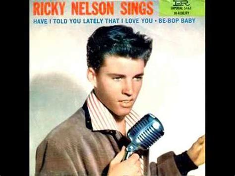 be bop baby ricky nelson quot be bop baby quot 1957