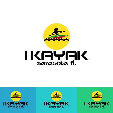 designcrowd participation payments 46 playful colorful logo designs for i kayak sarasota fl