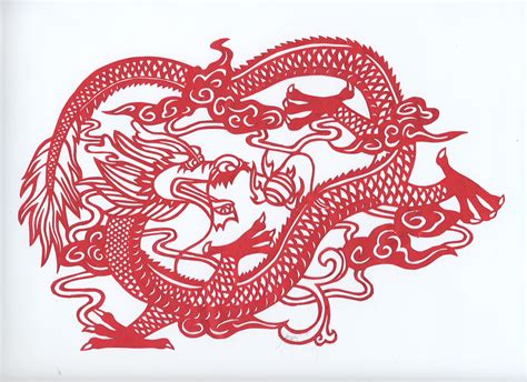 chinese dragon paper cut by gamerchick56 on deviantart