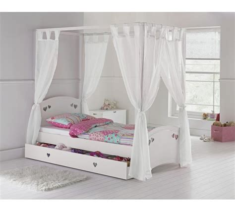 Four Poster Single Bed Frame Buy Collection Single 4 Poster Bed Frame White At Argos Co Uk Your Shop For