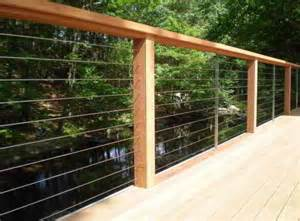 deck patio porch balcony cable railing modern deck