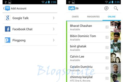 gtalk app for android access talk chat from one single android app