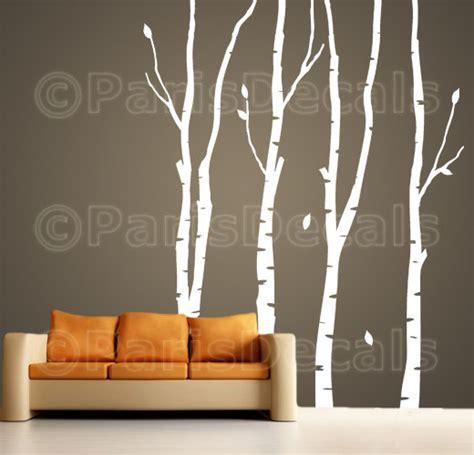 birch tree wall stickers birch trees vinyl wall decal sticker nature self