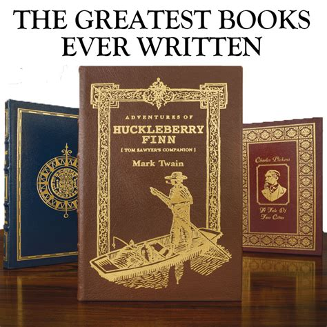 best books written greatest books written easton press