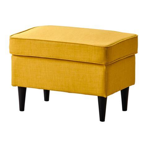 ikea ottomans strandmon ottoman skiftebo yellow ikea
