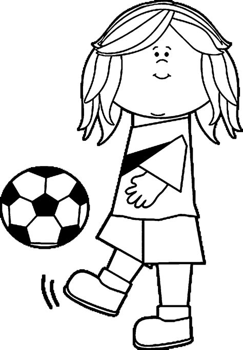 coloring page soccer girl soccer girl playing football coloring page wecoloringpage
