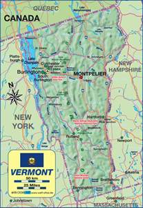 vermont united states map vermont usa map
