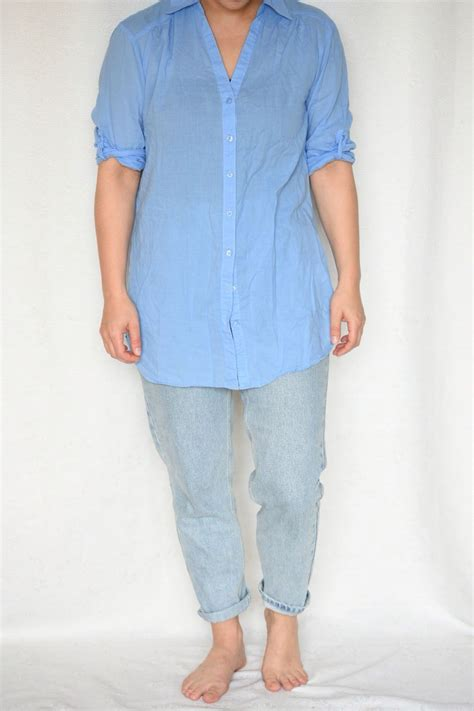 Hm Longblouse bluse longbluse blau sommer leicht 36 38 h m kleiderkorb de