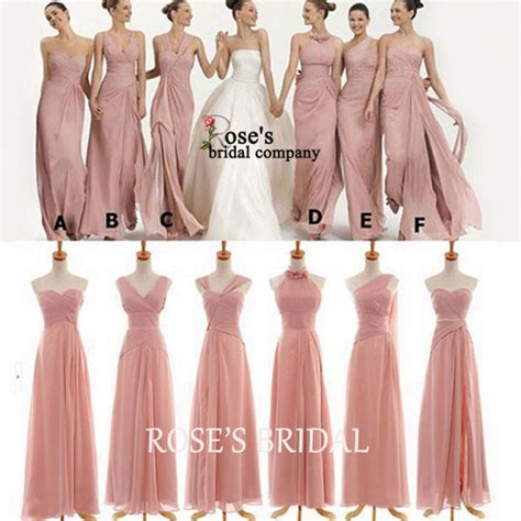 Na Mix Dress mismatched pink bridesmaid dresses chiffon wedding