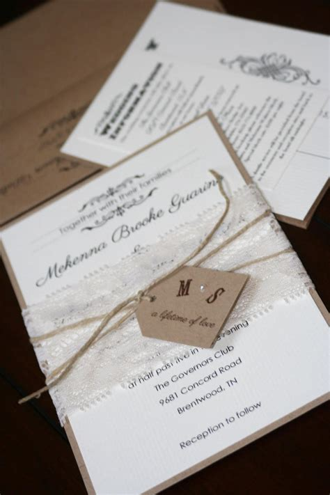 wedding invitations shabby chic summer in swing chic shab design