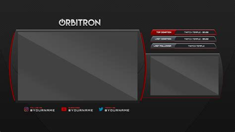 twitch stream overlay orbitron free by twitchtemple com
