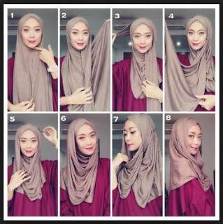 tutorial hijab pashmina satin tanpa ninja tutorial memakai hijab pashmina simpel mudah kreasi
