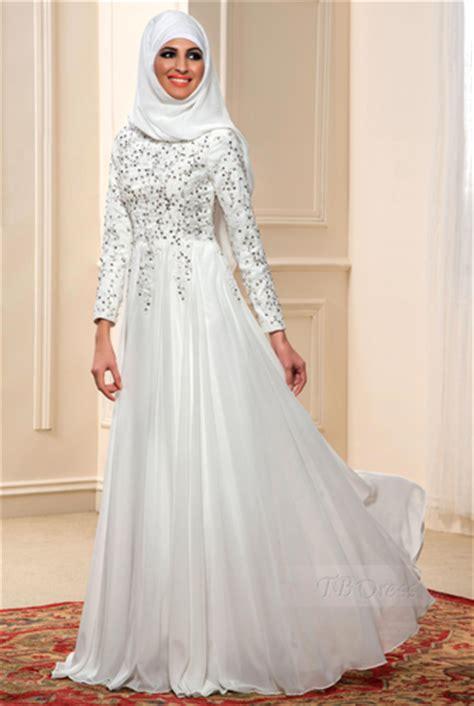 Gamis Warna Putih kumpulan baju gamis muslim kombinasi brokat terbaru warna