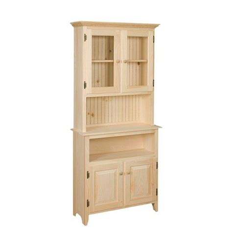 Two Tone Cabinets Kitchen 32 Inch Hunt Board Hutch Simply Woods Furniture