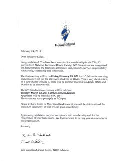 Acceptance Letter For National Honor Society National Junior Honor Society Letter Of Recommendation