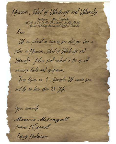 Hogwarts Acceptance Letter How To Make Hogwarts Acceptance Letter By Onegoldenteaspoon On Deviantart