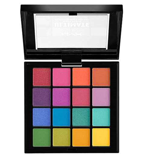 Nyx Brights nyx professional makeup ultimate shadow palette brights