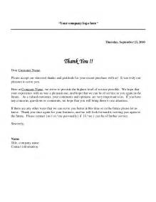 Thank You Letter Firm Sle Thank You Letter Format Best Template Collection