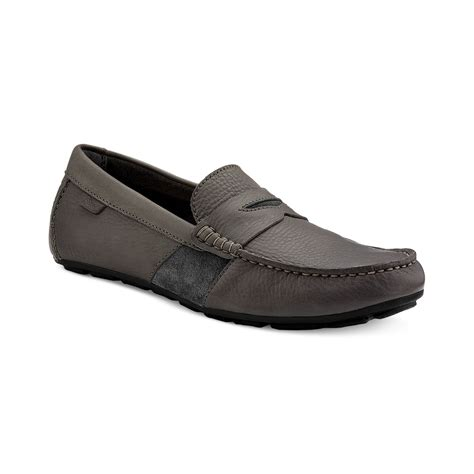 mens grey loafers sperry top sider wave driver loafers in gray for