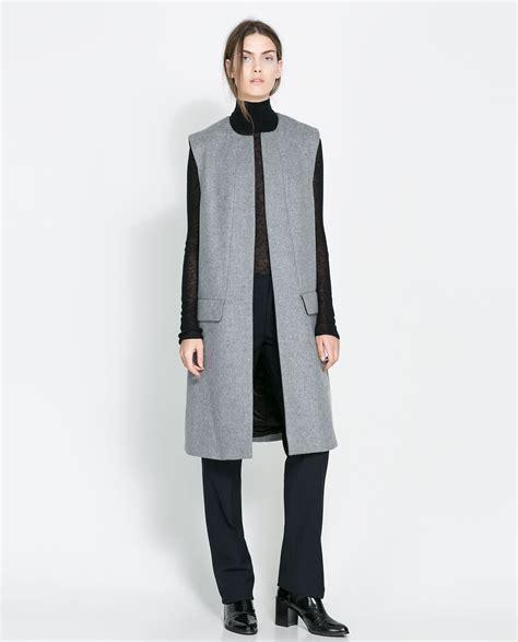Zara Vest zara studio waistcoat in gray lyst