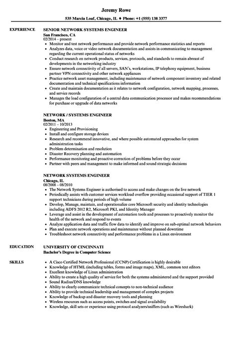 network engineer resume example new professional resume templates