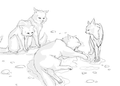 warrior cats fighting coloring pages bluestars line warrior cats animation