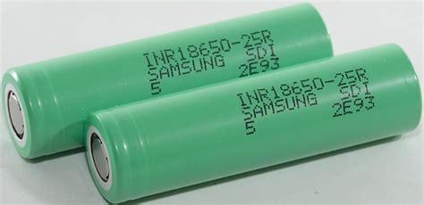 test of samsung inr18650 25r 2500mah green