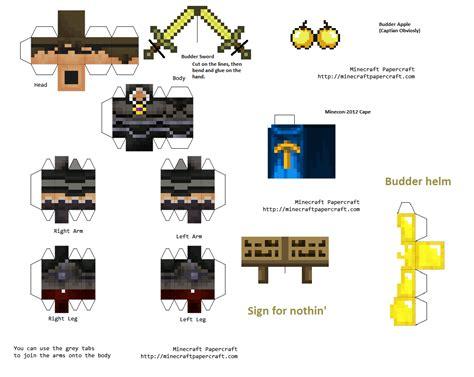 Images Of Minecraft Papercraft - minecraft papercraft budder