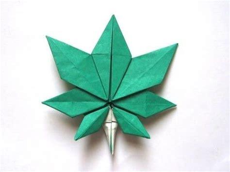 Origami Marijuana Leaf - best 25 origami ideas on origami