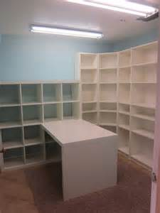 craft room shelves craft room ideas using lots of shelves it craft