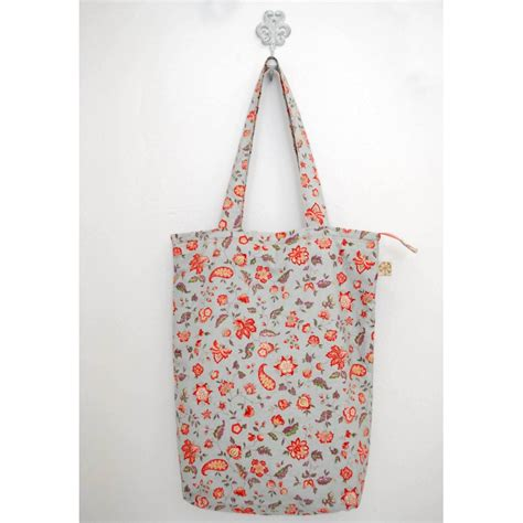 Handmade Cotton Bags - summer handmade flower cotton bag