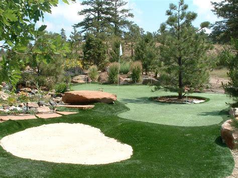 put grass in backyard green lawn lockhart texas putting green grass backyard