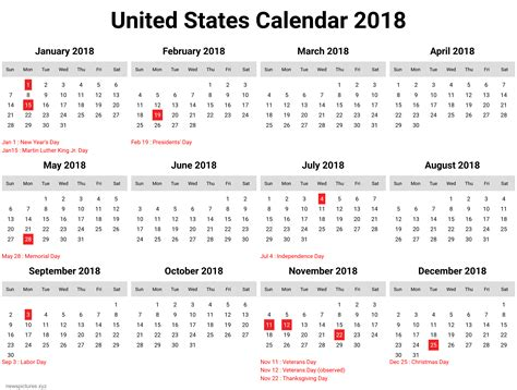 printable calendar 2018 united states 80 ideas calendar year 2018 on excoloringc download