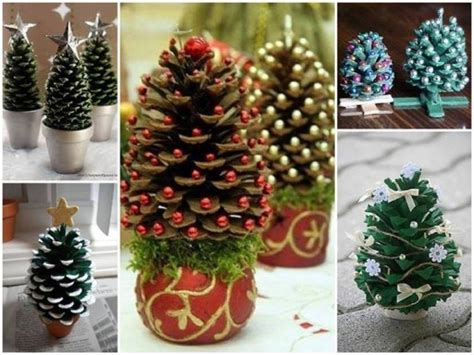 christmas decoration step by step tutrials how to make pine cone trees how to
