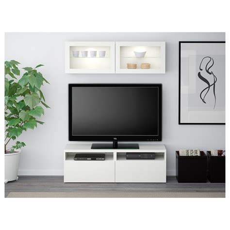 besta storage combination with glass doors best 197 tv storage combination glass doors lappviken sindvik white clear glass 120x20