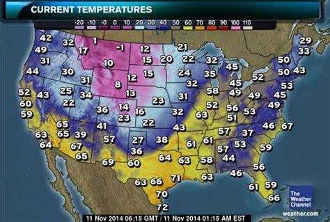 us weather map november mid november 2014 u s snow cold blizzard map south