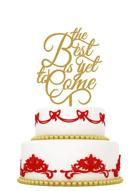 Wedding cake topper the best is yet to come   LVLY