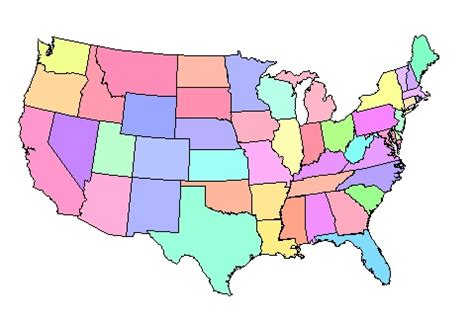 political map of america without names map of the u s a getting lost maps and the
