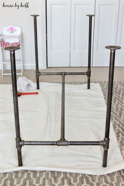 diy sturdy table legs diy piping table house by hoff