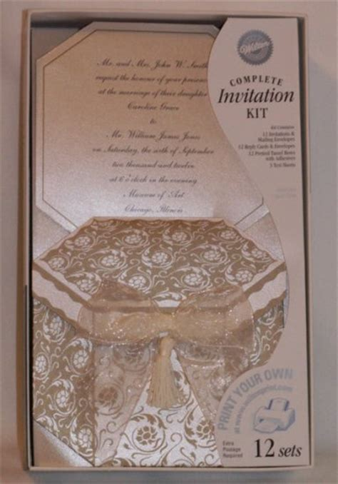 printable wedding invitations wilton wilton invitations printable complete kits captivating