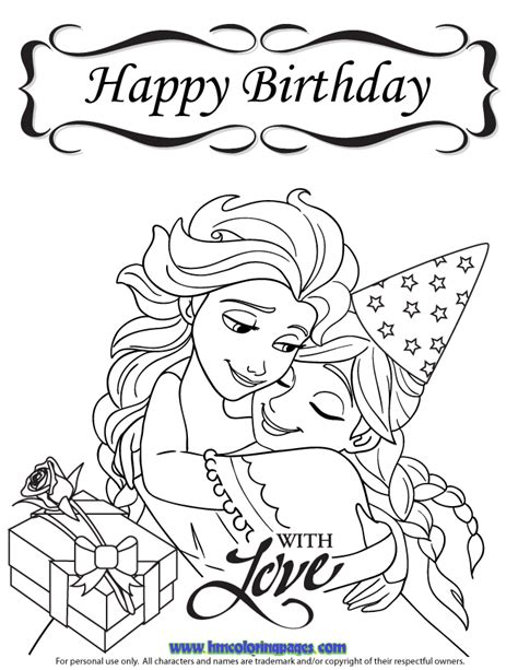 frozen coloring pages happy birthday happy birthday elsa coloring pages