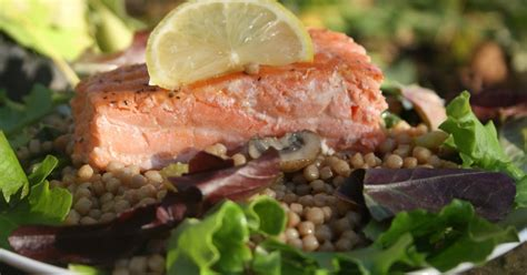 Lu Stop Jupiter Z Cw pan seared salmon with israeli couscous salad betty s healthy recipes