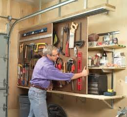 Garage Organization Diy Diy Sliding Wall Organization Garage Diy