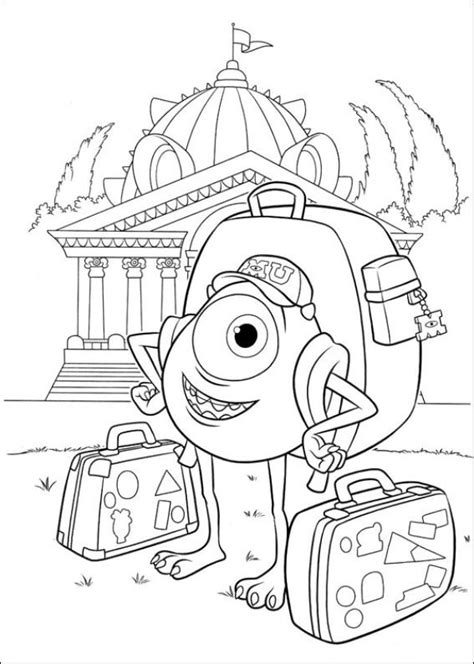 Coloring Pages Of Monster University | kids n fun com coloring page monsters university
