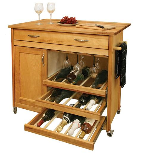 Kitchen Islands With Wine Racks | wine rack kitchen island in kitchen island carts
