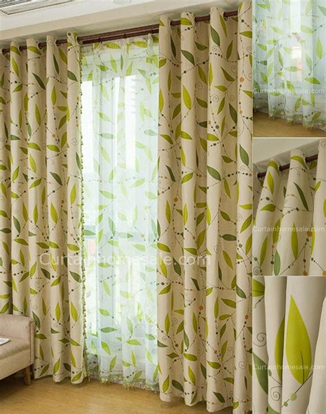 green color curtains leaf in lime green curtains living room curtains